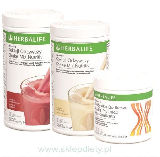Program podstawowy Herbalife na przytycie